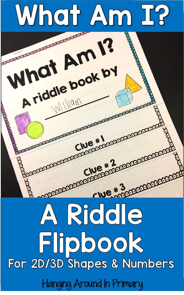 Student created riddle books to show their understanding of 2D and 3D shape attributes or of number concepts in math.