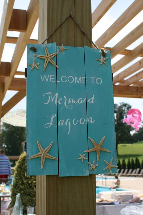 Mermaid Party Sign - welcome to Mermaid Lagoon!