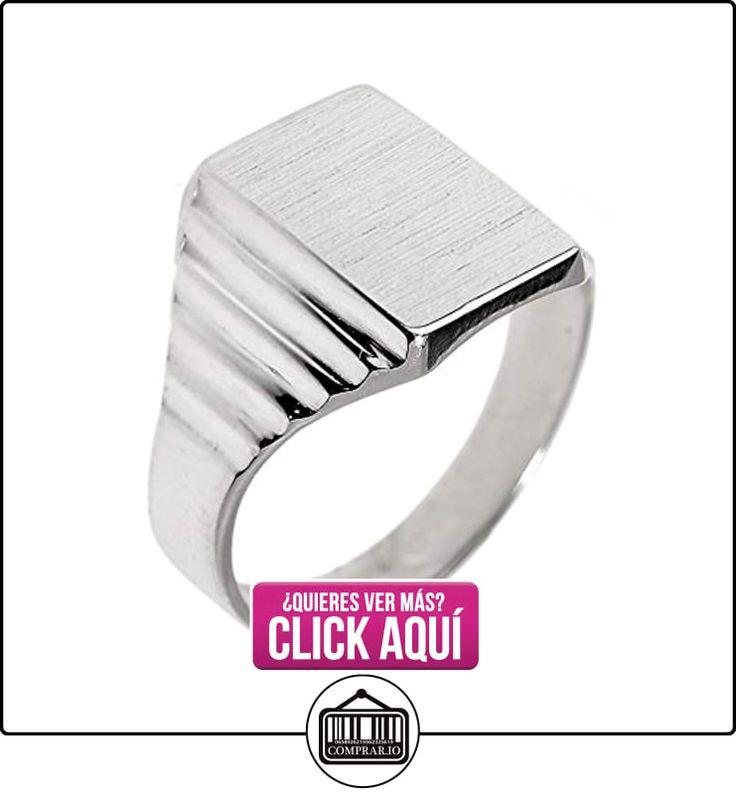 Pequeños Tesoros - Anillos Hombres Alianza De Boda 10 Kt Oro Blanco 471/1000 Engravable Sortija De sello  ✿ Joyas para hombres especiales - lujo ✿ ▬► Ver oferta: https://comprar.io/goto/B0124L8Z54