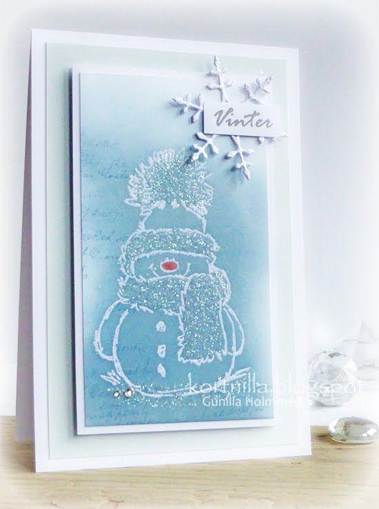 ♥ ♥ ♥   Ännu ett kort med mitt nyaste stämpeltillskott.  Nämligen Snowy ♥  från Penny Black som ni hittar HÄR!  Känner att detta är ett mo...