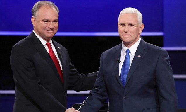Insults fly as Tim Kaine makes vice-presidential debate about Trump