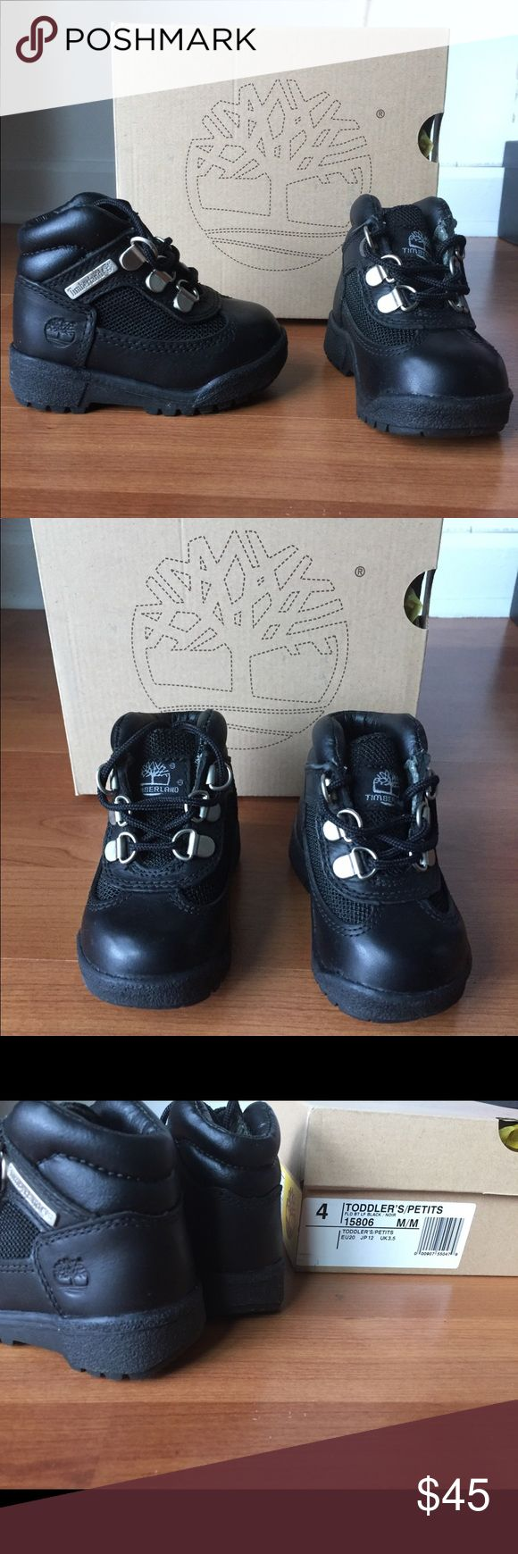 """New Timberland 6"""" field boots black Premium New in box Timberland 6"""" field boots black Premium in an infant size 4. Black on black Timberland Shoes Boots"""
