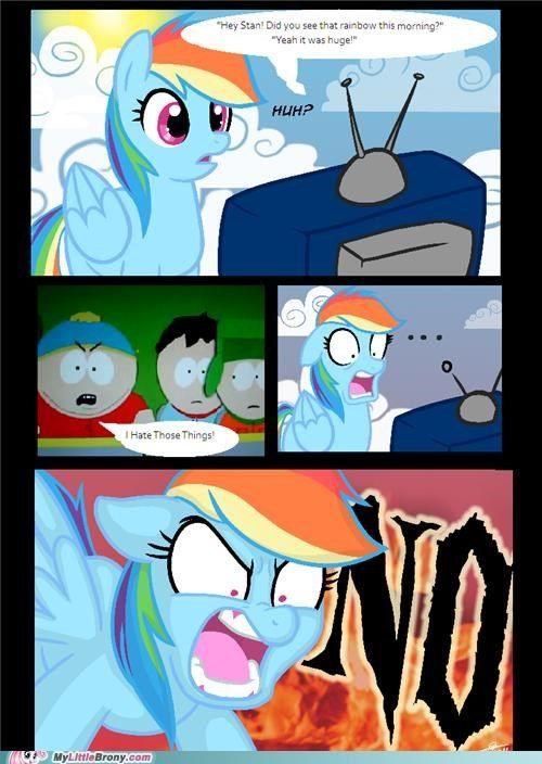 Rainbow Dash Hates South Park Rainbow Dash Mlp My