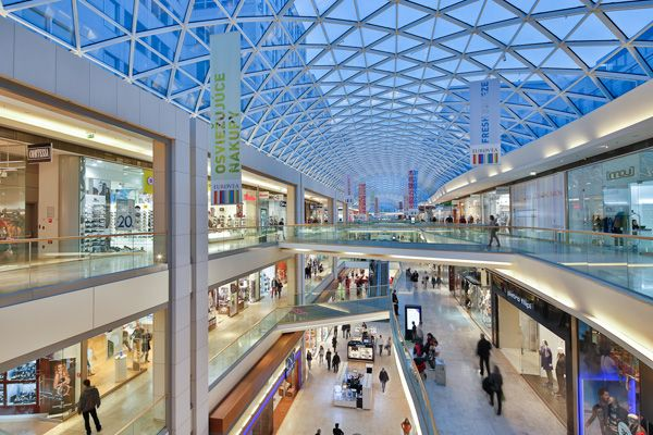 Eurovea International Trade Center, Shopping Mall, Interior, Skylight, Glass Roof, Passage, Bratislava-Slovakia