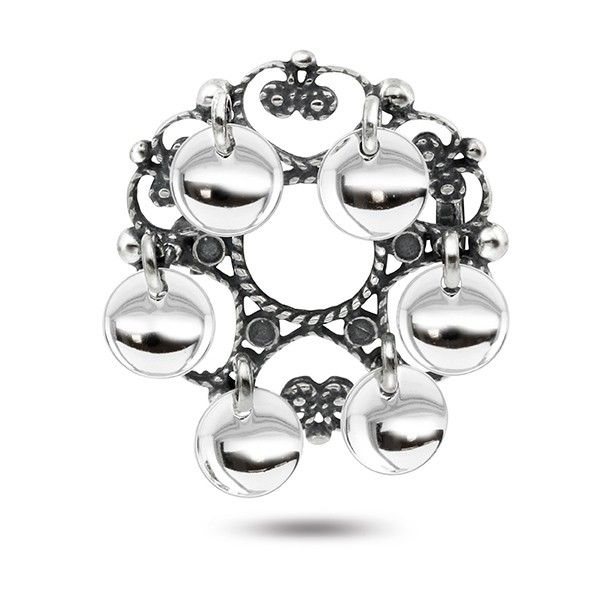 Sølje, oksidert m/løv | Dåpsgaver og smykker | Pia&Per nettbutikk