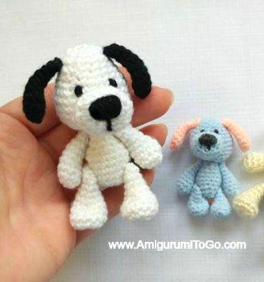 Miniature amigurumi puppy - free crochet dog pattern // Mini horgolt (amigurumi) kutya - ingyenes amigurumi minta // Mindy - craft tutorial collection