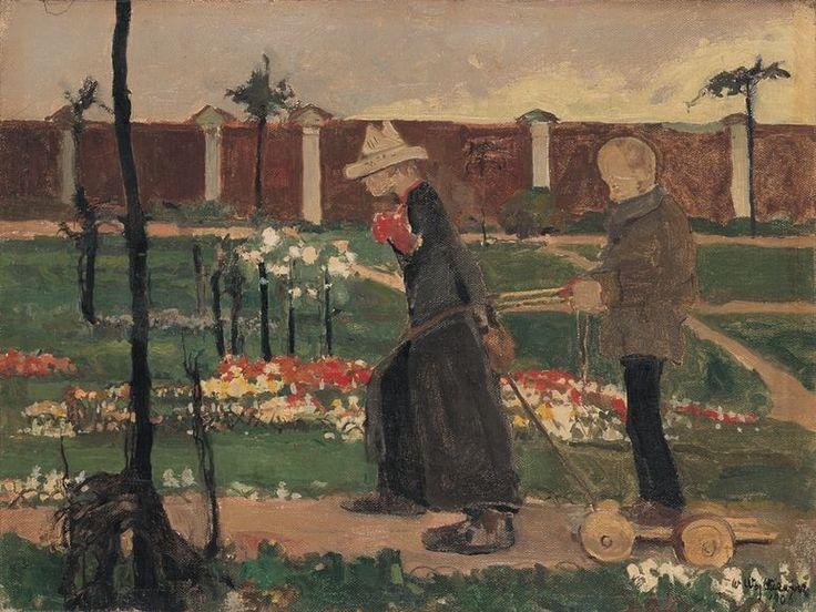 Witold Wojtkiewicz Za murem, z cyklu Obłęd, 1906