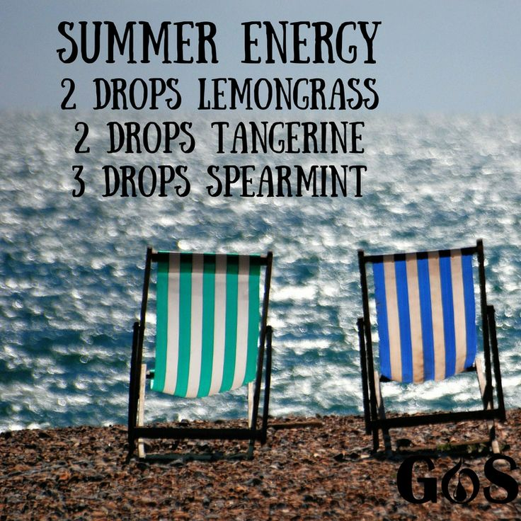Summer Diffuser Blend With Lemongrass Tangerine and Spearmint Essential Oils