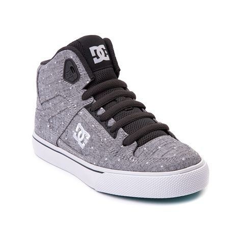 Shop for YouthTween DC Spartan Hi Skate Shoe in Gray White at Journeys Kidz. Shop today for the hottest brands in mens shoes and womens shoes at JourneysKidz.com.Skate with the courage, strength, and speed of a Spartan warrior! This Journeys Kidz exclusive edition DC Spartan high top features a polka dot print textile upper, high padded collar, lace closure, cushioned footbed, and vulcanized rubber outsole for flexible board gripping traction and control. Available only at Journeys Kidz!