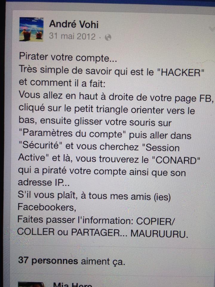 debusquer qui pirate votre compte facebook...