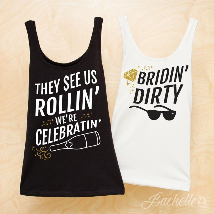"Fresh and fun Hip Hop ""Bridin' Dirty"" and ""They See Us Rollin' We're Celebratin'"" bachelorette party shirts! HILARIOUS and perfect for a bachelorette party! The shirts every bride will love for her wedding!"