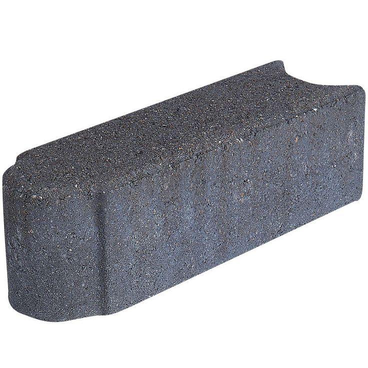 Pavestone Edgestone 12 in. x 3.5 in. Charcoal Concrete Edger