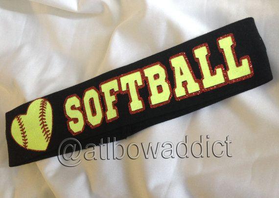 Custom+Softball+Headband+by+AtlBowAddict+on+Etsy