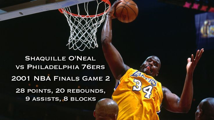 Shaquille O'Neal vs 76ers: 2001 NBA Finals Game 2 Full Highlights: 28 pt...