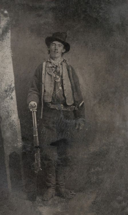 The only surviving authenticated portrait of Billy the Kid, Fort Sumner, New Mexico, USA, 1879-1880. Source: Brian Lebel's Old West Show and Auction
