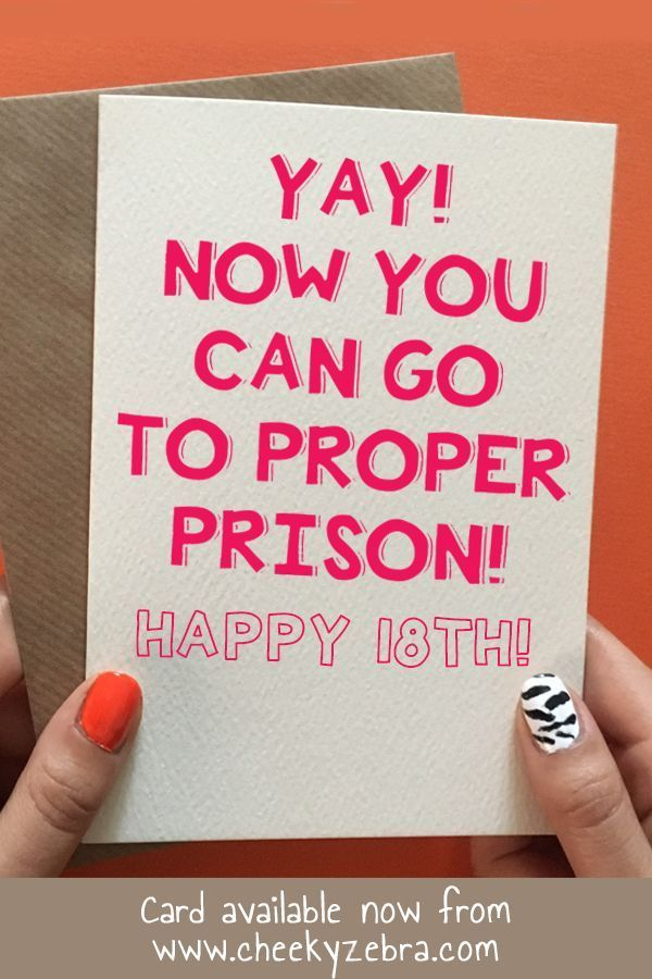 Funny 18th Birthday Card Is The Perfect Gift For Your Friend Girlfriend Daughter Or