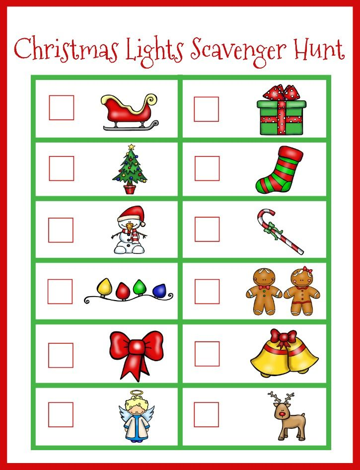 Super simple Christmas Countdown Ideas for Kids! Perfect Christmas idea for preschoolers! Love this easy Christmas Lights Scavenger Hunt. Perfect Christmas activity for preschoolers!