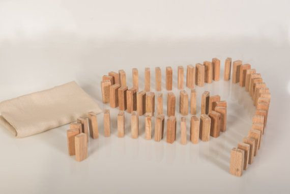 Wooden Toy  Domino Game  Children's Educational Toy  by beigebois