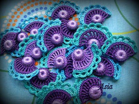 Мотивы Крючком - Ирландское Кружево - 2016 / Crochet Motifs - Irish Lace / Crochet Motive - YouTube