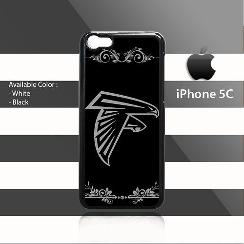 Atlanta Falcons ClipArt Black Elegant iPhone 5c Rubber Case Cover