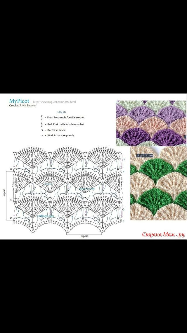 ... Crochet patterns/diagrams on Pinterest Stitches, Crochet lace and