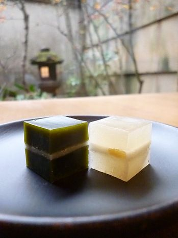 Japanese Yokan Wagashi Jelly (Matcha Green Tea and Ginger)|茶菓子