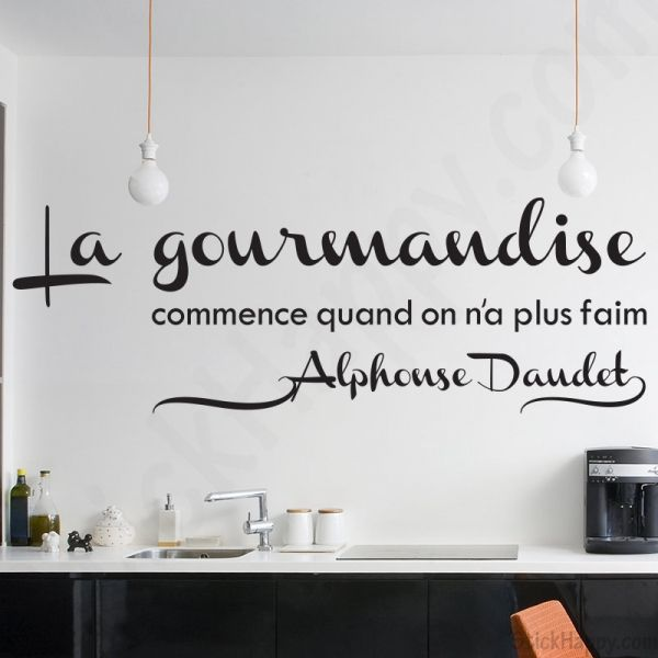 17 best ideas about stickers citation on pinterest for Decoration murale gourmandise
