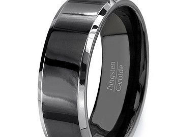 Mens Wedding Band 8mm Classic Brushed Matte by TungstenOmega