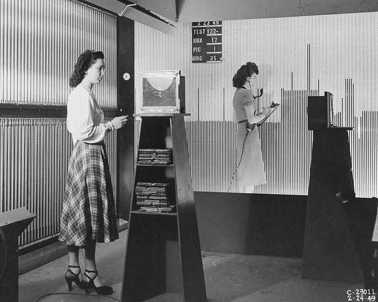 Manometer Board Setup in the 18 x 18 inch Supersonic Wind Tunnel, 24 February 1948, public domain via Wikimedia Commons.