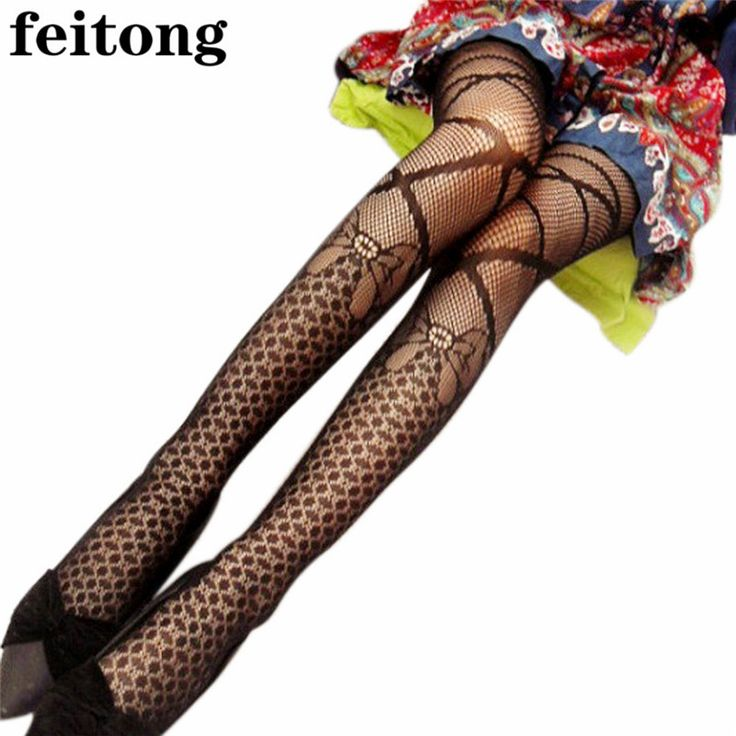 Feitong New Women Tights Black Sexy Fishnet Tights Pattern Jacquard Collant Pantyhose Sexy Tights Women Collant Femme