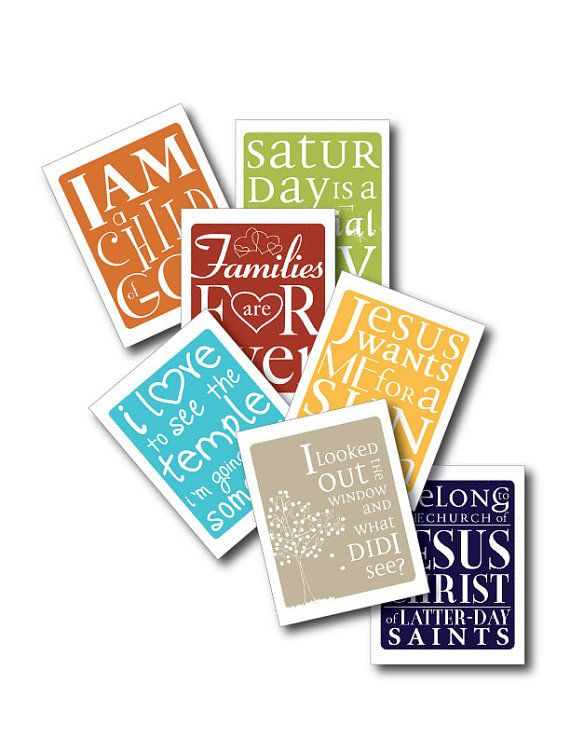 Primary Song PrintsHealth Food, Church, Songs Prints, Diy Gift, Lds Temples, 8X10 Prints, Handmade Gift, Kids Room Printables, Primary Songs