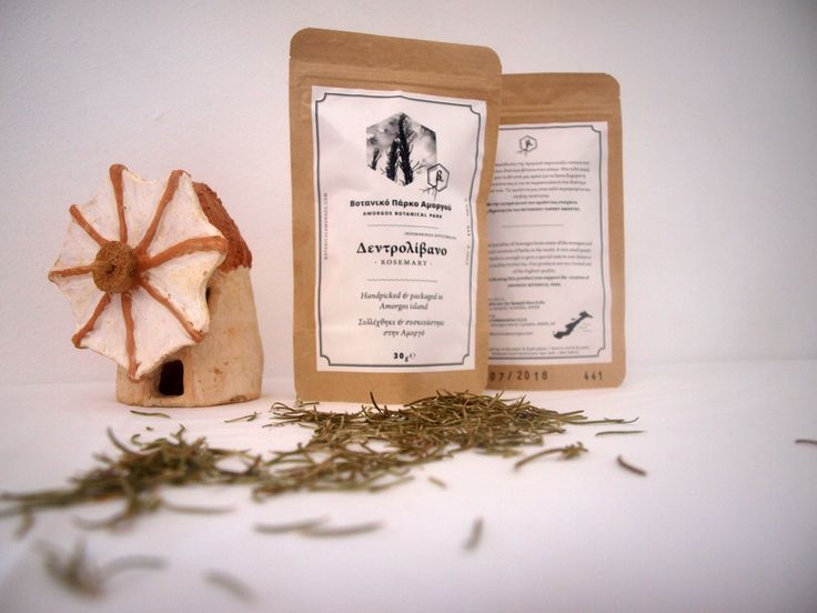 "Dried Rosemary. Herbs from Amorgos island, product series ""Tournefort"". Inspired by the french botanist Tournefort who visited Amorgos in 1700. #rosemary #vintagelabel #organic #driedherbs #greekherbs #handpicked #doypack #kraft #packaging #socialenterprise #amorgosbotanical #amorgosbotanicalpark #amorgosisland"