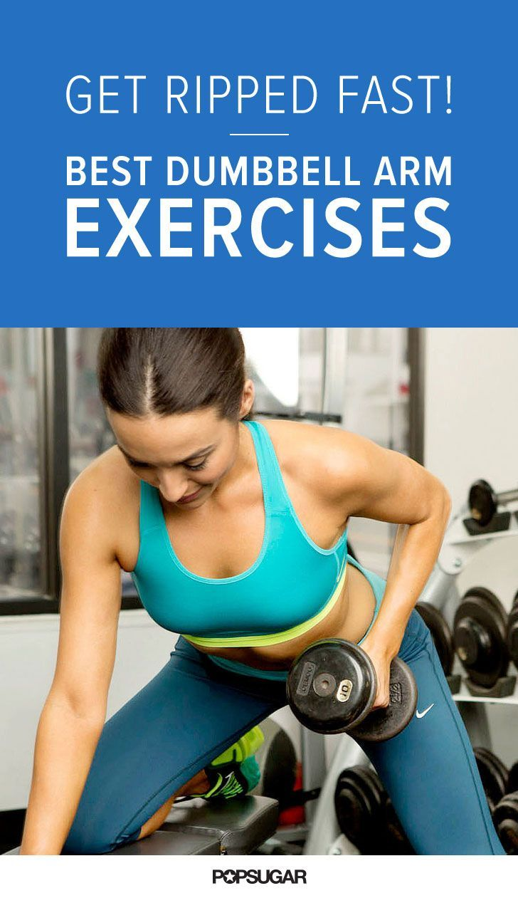 Grab some dumbbells and find out how to get ripped arms fast! Depending on your strength, grab at least two size weights ranging from five to 15 pounds so you can switch up the appropriate size dumbbells for each move.
