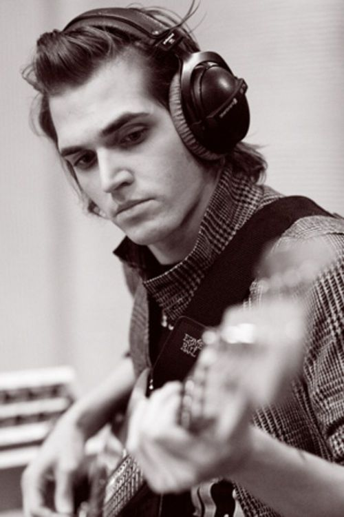 """(Mikey Way) """"Hello, I'm Mikey. I play bass In a band. I love coffee, movies, music, and comic books with all my heart. My right eye is gray and my left eye is green.''"""