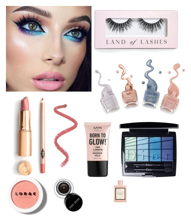 """Goin'out!"" by penkreitto on Polyvore featuring beauty, Boohoo, NYX, Christian Dior, Bobbi Brown Cosmetics, LORAC and Gucci"