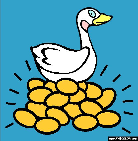 the goose with golden eggs coloring page