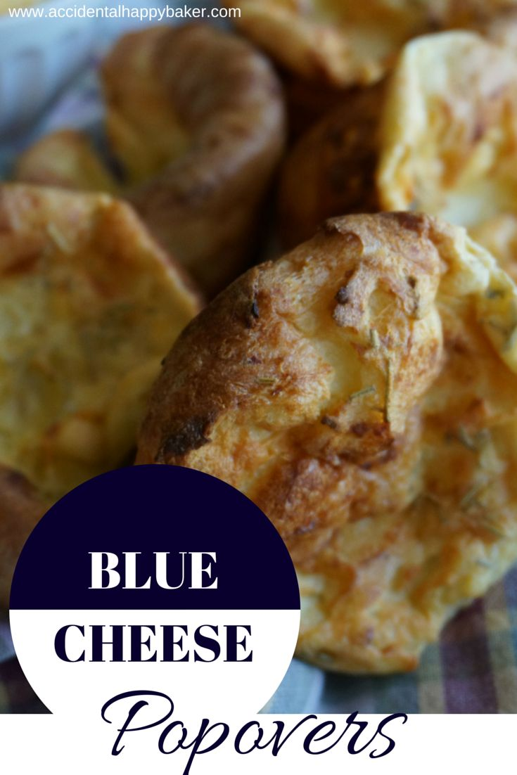These blue cheese popovers are bursting with flavor. Crisp and buttery on the outside, light and tender on the inside.