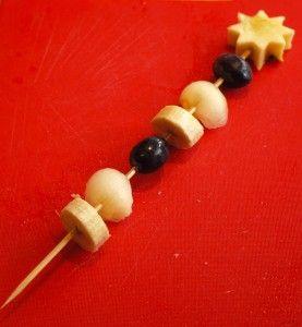 Fairy wand fruit kebab