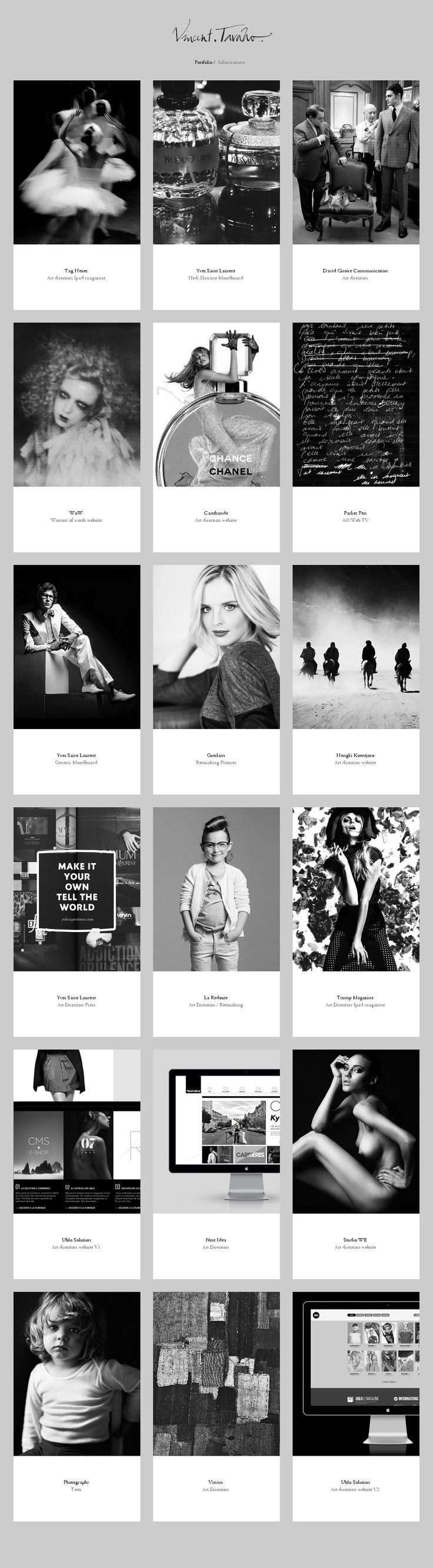 #Website 'http://www.tavanovincent.com/ #webdesign