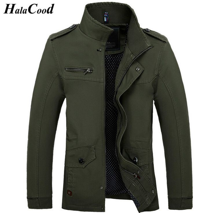 HALACOOD Hot Sale 2017 New Fashion Brand Men Jacket Coats Long Overcoat Cotton Jackets Mens Outerwear Parka Plus Size Man Coats  #Affiliate