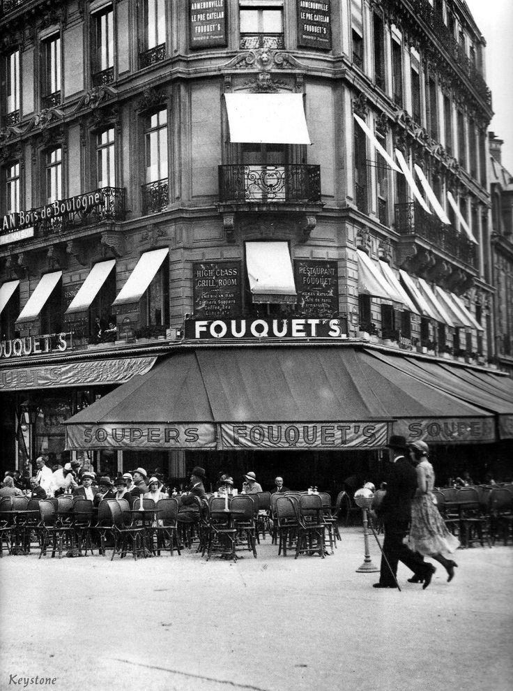 Fouquet's on the Champs Elysées in Paris (ca. 1930), via Agence Keystone