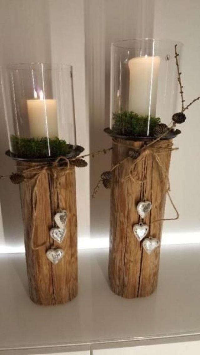 Not Everyone Has With A Beautiful Candle Provided This Lantern Becomes The Unique Wooden Lantern Lantern Candle Wooden Natu Glass Beams Diy Crafts Candles Christmas Decorations