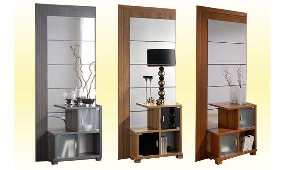 Mueble auxiliar con espejo en un estilo moderno for Mueble auxiliar moderno