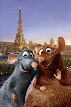 *REMY & brother EMILE ~ Ratatouille, 2007