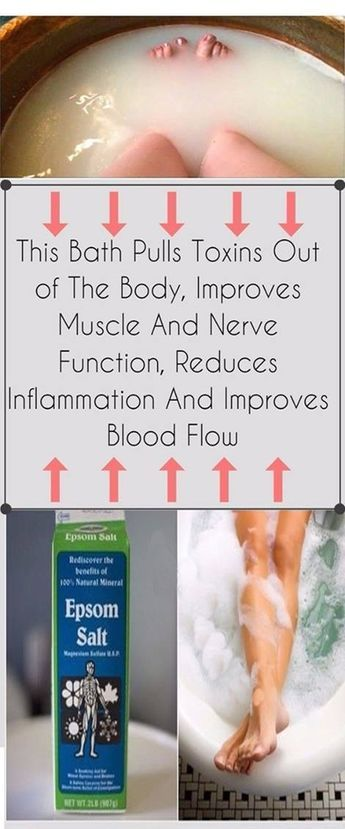 This Bath Pulls Toxins Out Of The Body; Improves Muscule And Nerve Funciton, Reduces Inflammination And Improves Blood Flow