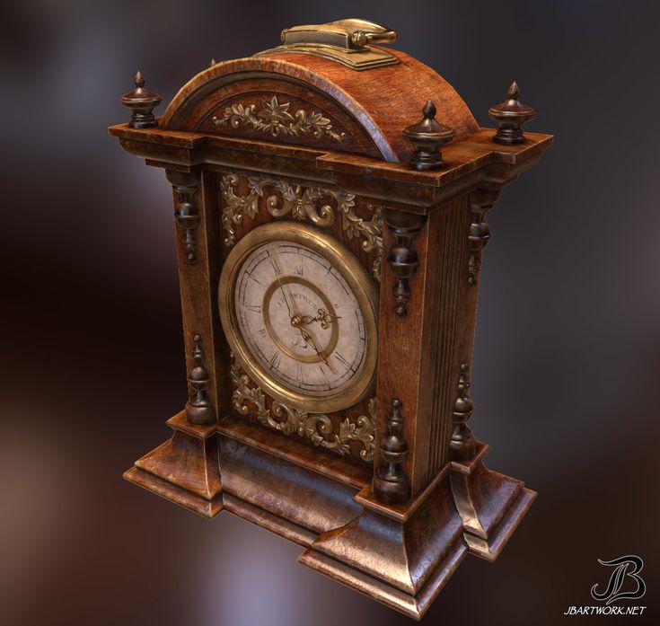 ArtStation - Antique Clock, James Brisnehan