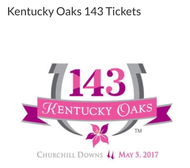 Included are a pair of tickets to Kentucky Oaks 143 in section 327 of Churchill Downs on Friday, May 5, 2017. Also included is a lovely lunch with beer, wine and soft drinks in Sunny Halo's Lounge located behind the seats. This package is provided by QuintEvents' Derby Experiences, the Official Experience Package Provider to Churchill Downs for the Kentucky Derby and the Kentucky Oaks. - Bidding began today 4-27-17 and ends in 4 days. Use this link or live link in profile to see other items…