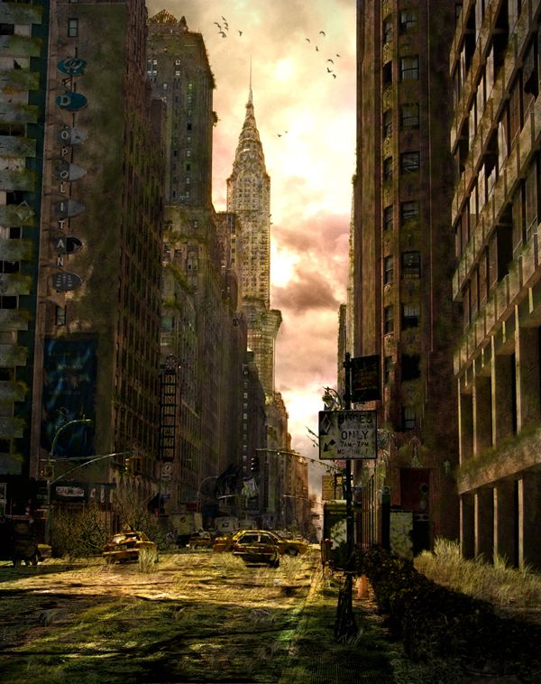 How to Make a Dark Post-Apocalyptic City Illustration