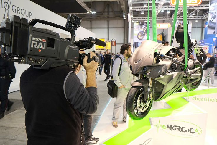 Rai Tv on Energica Ego booth