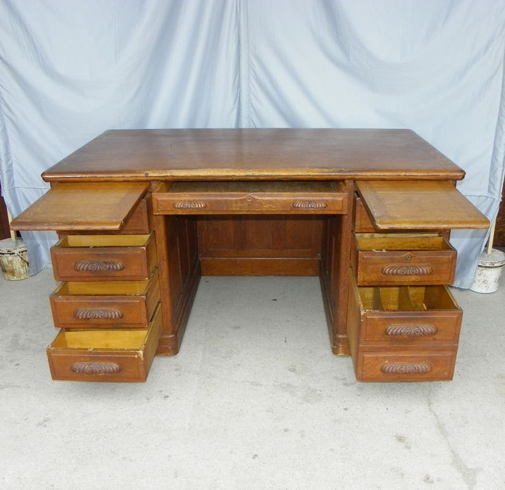 Antique Oak Mining Office Desks | Furniture U003e Early 1900u0027s Furniture  (1890 1915) U003e Desks U003e Antique Oak ... | Stuff To Buy | Pinterest | Office  Desks, Desks ...